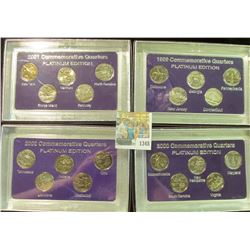 "1348 _ 1999, 2000, 2001, & 2002 ""Commemorative Quarters Platinum Edition"" Five-piece Statehood Quart"