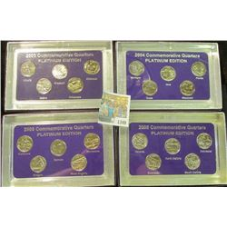 "1349 _ 2003, 2004, 2005, & 2006""Commemorative Quarters Platinum Edition"" Five-piece Statehood Quarte"