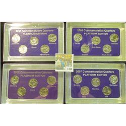 "1350 _ 2007, 2008, 2009, & 2010""Commemorative Quarters Platinum Edition"" Five-piece Statehood Quarte"