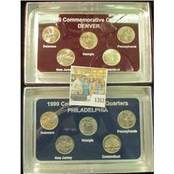 1352 _ 1999 Philadelphia & Denver Mint United States Statehood Quarters in special cases each of whi