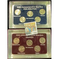 1353 _ 2000 Philadelphia & Denver Mint United States Statehood Quarters in special cases each of whi