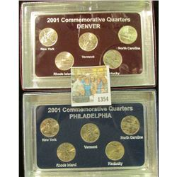 1354 _ 2001 Philadelphia & Denver Mint United States Statehood Quarters in special cases each of whi