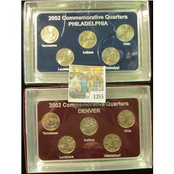 1355 _ 2002 Philadelphia & Denver Mint United States Statehood Quarters in special cases each of whi