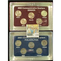 1356 _ 2003 Philadelphia & Denver Mint United States Statehood Quarters in special cases each of whi