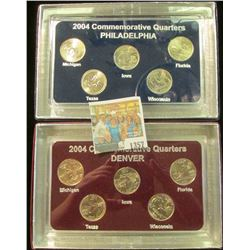 1357 _ 2004 Philadelphia & Denver Mint United States Statehood Quarters in special cases each of whi