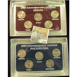 1358 _ 2005 Philadelphia & Denver Mint United States Statehood Quarters in special cases each of whi