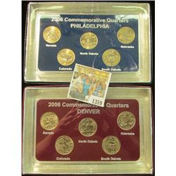 1359 _ 2006 Philadelphia & Denver Mint United States Statehood Quarters in special cases each of whi