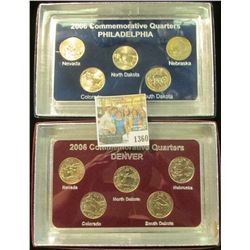 1360 _ 2006 Philadelphia & Denver Mint United States Statehood Quarters in special cases each of whi