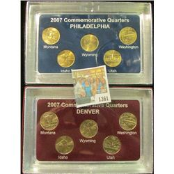 1361 _ 2007 Philadelphia & Denver Mint United States Statehood Quarters in special cases each of whi