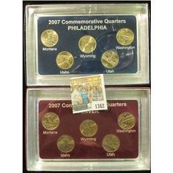1362 _ 2007 Philadelphia & Denver Mint United States Statehood Quarters in special cases each of whi