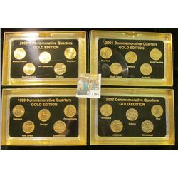 "1364 _ 1999, 2000, 2001, & 2002 ""Commemorative Quarters Gold Edition"" Five-piece Statehood Quarter S"