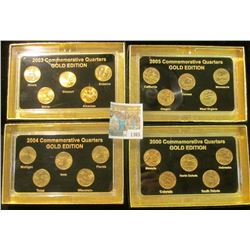 "1365 _ 2003, 2004, 2005, & 2006""Commemorative Quarters Gold Edition"" Five-piece Statehood Quarter Se"