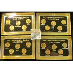 "1367 _ 1999, 2000, 2001, & 2002 ""Commemorative Quarters Gold Edition"" Five-piece Statehood Quarter S"