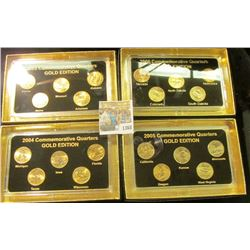 "1368 _ 2003, 2004, 2005, & 2006""Commemorative Quarters Gold Edition"" Five-piece Statehood Quarter Se"