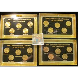 "1369 _ 1999, 2000, 2001, & 2002 ""Commemorative Quarters Gold Edition"" Five-piece Statehood Quarter S"
