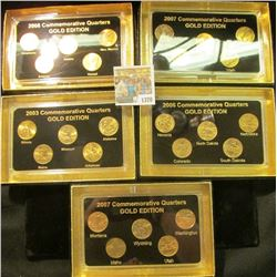 "1370 _ 2003, 2006, (2) 2007, & 2008 ""Commemorative Quarters Gold Edition"" Five-piece Statehood Quart"