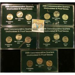1372 _ 2006 States Commemorative Quarters Boxed Set. Nevada, Nebraska, Colorado, North & South Dakot