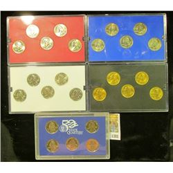 1381 _ 2002 Denver Edition, Philadelphia Edition, San Francisco Mint Clad Proof Set, Platinum Editio