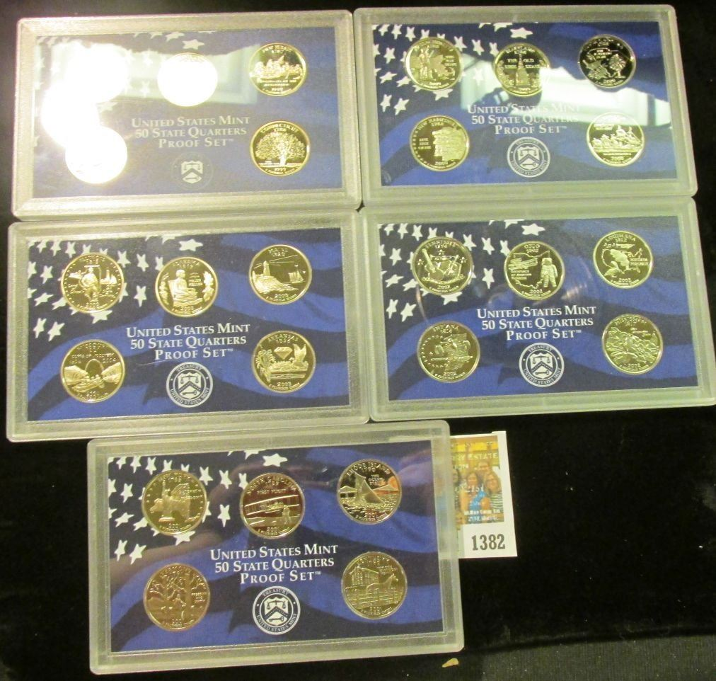 2003 STATE QUARTERS 5-COIN CLAD PROOF SET ~ GROUP OF 5 SETS ~ 25 TOTAL COINS!