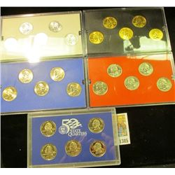 1385 _ 2003 Denver Edition, Philadelphia Edition, San Francisco Mint Clad Proof Set, Platinum Editio