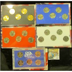 1387 _ 2004 Denver Edition, Philadelphia Edition, San Francisco Mint Clad Proof Set, Platinum Editio