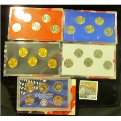 1390 _ 2004 Denver Edition, Philadelphia Edition, San Francisco Mint Clad Proof Set, Platinum Editio