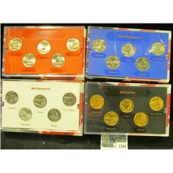 1394 _ 2005 Denver Edition, Philadelphia Edition, Platinum Edition, & Gold Edition State Quarter Col