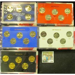 1398 _ 2007 Denver Edition, Philadelphia Edition, San Francisco Mint Clad Proof Set, Platinum Editio