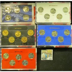 1399 _ 2007 Denver Edition, Philadelphia Edition, San Francisco Mint Clad Proof Set, Platinum Editio