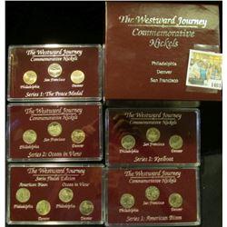 "1403 _ (4) ""The Westward Journey Commemorative Nickels Philadelphia Denver San Francisco"" Three & fo"