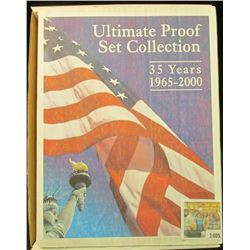 "1405 _ ""Ultimate Proof Set Collection 35 Years 1965-2000"" all stored in a special box with descripti"