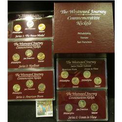 "1409 _ (4) ""The Westward Journey Commemorative Nickels Philadelphia Denver San Francisco"" Three & fo"