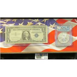 1416 _ Cased Set with Certificate of Authenticity containing Series 1957B $1 Silver Certificate & 20