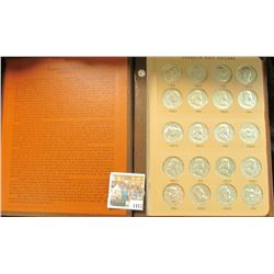 "1417 _ Near new ""World Coin Library"" Album containing an entire set of 1948-63 Franklin Half Dollars"