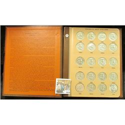 "1419 _ Near new ""World Coin Library"" Album containing an entire set of 1948-63 Franklin Half Dollars"