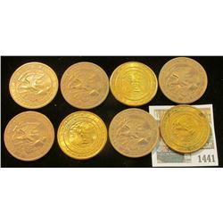 1441 _ (8) 1818-1968 Illinois Sesquicentennial Bronze Medals, 39mm, BU.
