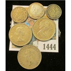 1444 _ Canada Silver Coins (.95c face value) & 1941 D Silver Philippines Islands 10 Centavos.