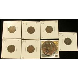 1448 _ 1984 Ronald Reagan Double Eagle Commemorative Medal; 1892, 1893, 1895, 1896, 1897, & 1898 Ind