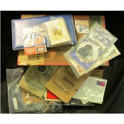 "1466 _ ""Keystone Manilla Cheroots"" Wooden Cigar Box full of memorabilia including Stamps, Rail Road"