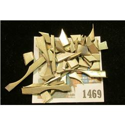 1469 _ A group of U.S. Mint edge planchet clippings, which escaped the mint.