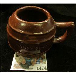 "1474 _ Stoneware Mug ""Dickey Clay"". 2 1/4"" Height."