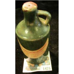 "1475 _ Stoneware Jug ""Polish Honey Drink StaroPolski…Product of Poland"" . 4"" Height."