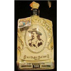 "1486 _ ""W.F. ""Buffalo Bill"" Cody 1846-1917"" Jim Beam Bottle with Buffalo ceramic Stopper."