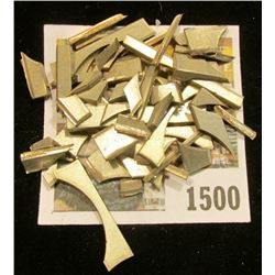 1500 _ Edge Clipping from U.S. Mint Coin Planchets, which some how escaped the mint.