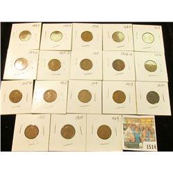 1514 _ 1909P, 10P, 11P, 12P, 13P, 14P, 15P, 15D, 16P, D, 17P, D, S, 18P, D, 19P, D, & S Lincoln Cent