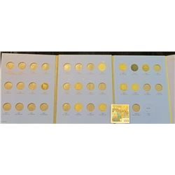 1525 _ 1889-1911 Partial Set of Liberty Nickels in a blue Whitman folder. (10 pcs.).