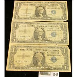 1542 _ Series 1957 $1, Series 1957A $1, & Series 1957B $1 U.S. Silver Certificates.