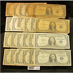 1552 _ Series 1935A, (7) 35D, 35G, (9) 1957, & (6) 57B U.S. $1 Silver Certificates. (total of 24 not