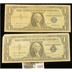 1557 _ Series 1957 & Series 1957B Star Replacement One Dollar Silver Certificates.