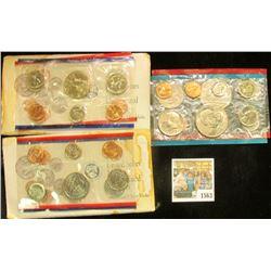 1563 _ 1973 P & D (no envelope); & (2) 1992 P & D U.S. Mint Sets. The latter have stained envelopes.